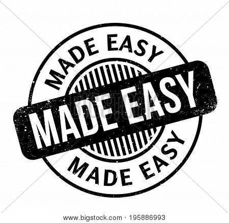 Made Easy rubber stamp. Grunge design with dust scratches. Effects can be easily removed for a clean, crisp look. Color is easily changed.