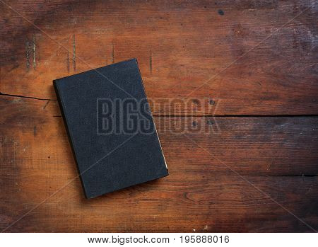 Vintage Book On Wooden Background - Copy Space