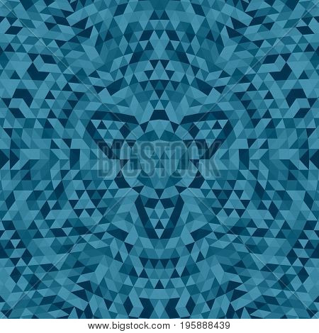 Round abstract geometrical triangle mandala background - symmetric vector pattern graphic art from colored triangles