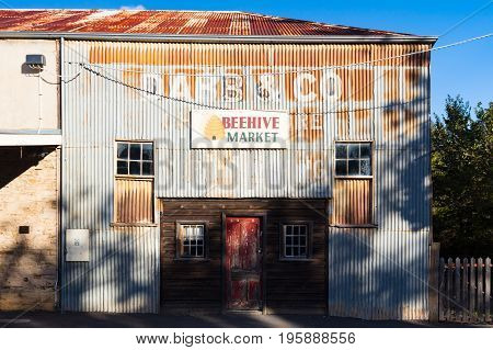 MALDON, AUSTRALIA - February 19 2017: Historic Victorian architecture in the old gold mining town of Maldon, Victoria, Australia