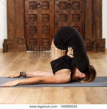Woman Yoga Checking Her Private Parts