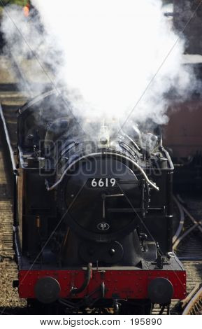 steam train 6619, severn valley railway, bewdley, uk poster