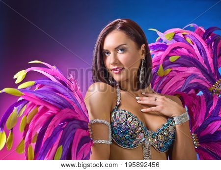 Woman In Carnival Costume.