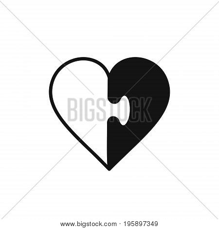 Heart jigsaw icon heart puzzle symbol vector illustration.