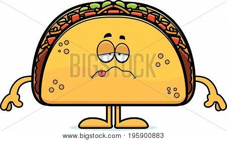 Sick Cartoon Taco