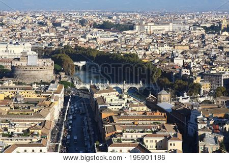 Historical sights of the ancient city of Rome