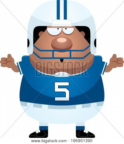 Confused Cartoon Football Player