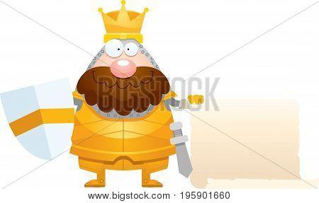 Cartoon King Sign