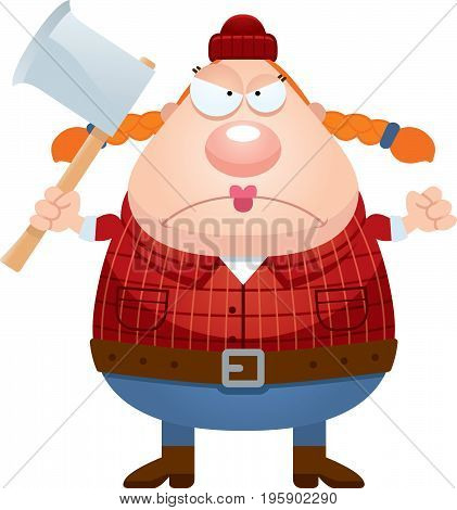 Angry Cartoon Lumberjack