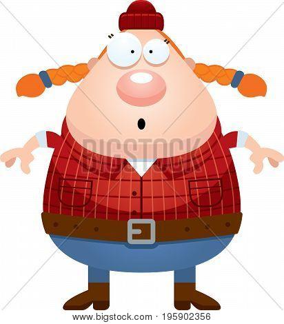 Surprised Cartoon Lumberjack