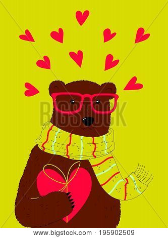 Nice Bear With Heart