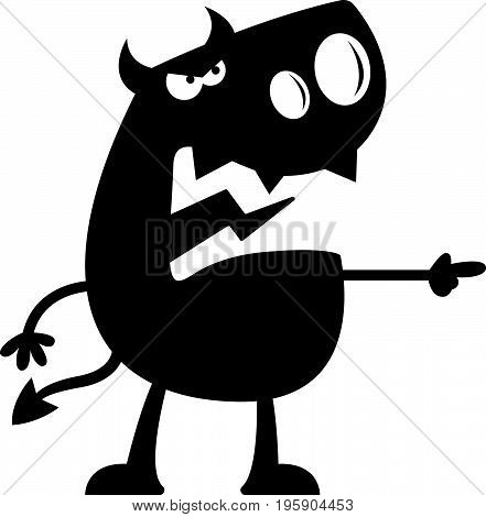 Cartoon Devil Silhouette Angry