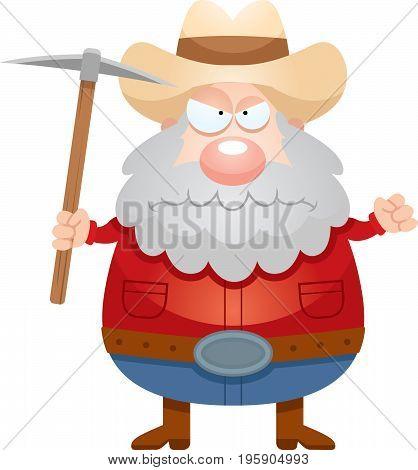 Angry Cartoon Miner