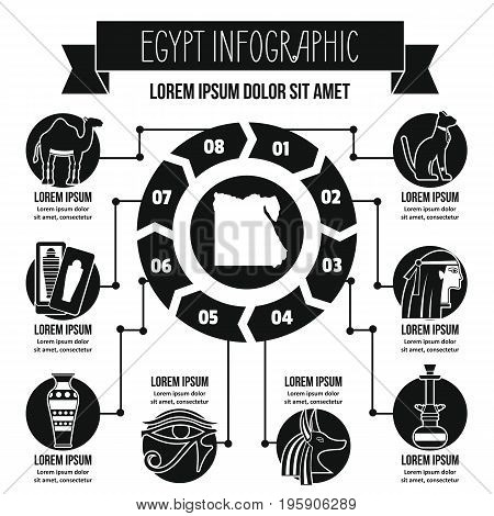 Egypt infographic banner concept. Simple illustration of Egypt infographic vector poster concept for web