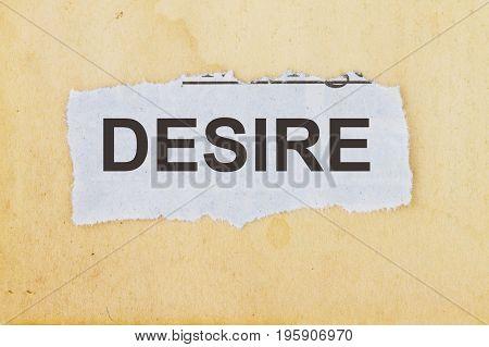 Desire Word Concept