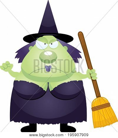 Angry Cartoon Witch