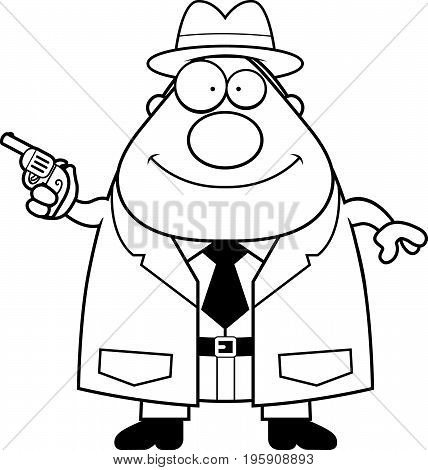 Cartoon Detective Gun