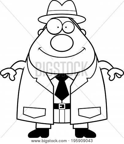 Happy Cartoon Detective