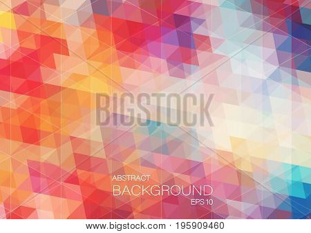 bright color background with triangle shapes for web