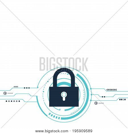 Internet security protection system protection concept background vector illustration