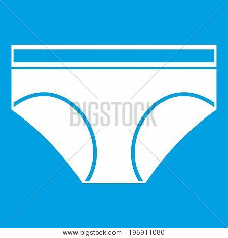 Woman underwear panties icon white isolated on blue background vector illustration