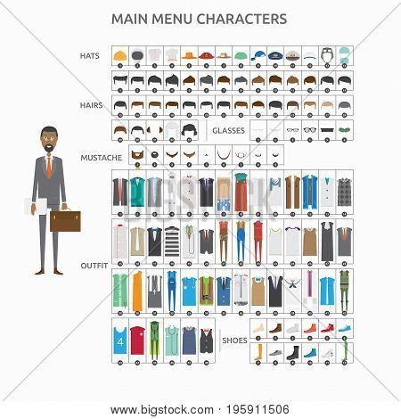 Character Creation Lawyer | set of vector character illustration use for human, profession, business, marketing and much more.The set can be used for several purposes like: websites, print templates, presentation templates, and promotional materials.