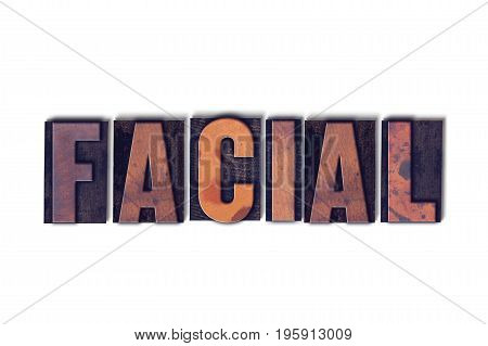 Facial Concept Isolated Letterpress Word