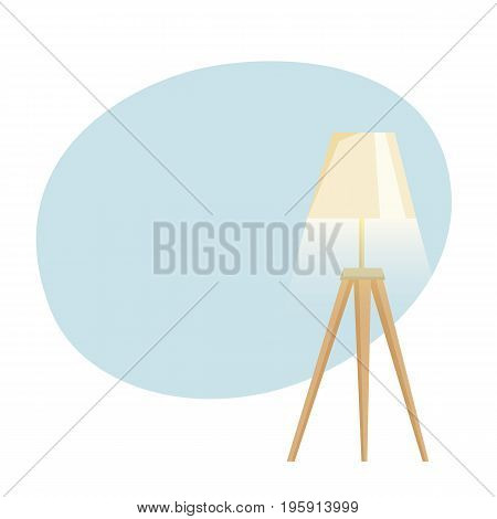 Lampshades on the floor background. Interior light design vector illustration. Floor lamps.Cartoon interior decor elements.