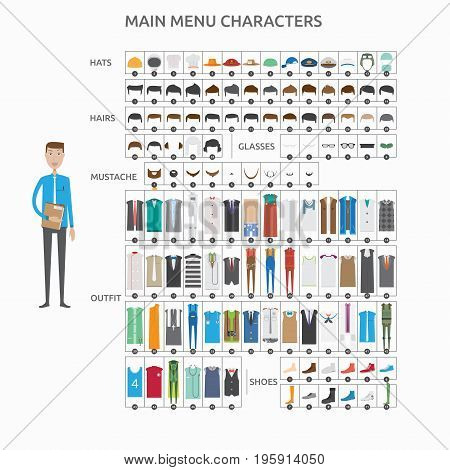 Character Creation Secretary   set of vector character illustration use for human, profession, business, marketing and much more.The set can be used for several purposes like: websites, print templates, presentation templates, and promotional materials.