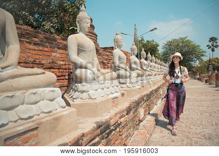 Thailand Visitor For Tourist Shore Walking