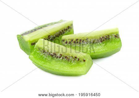 Kiwi fruit slice isolated slices of kiwi isolated on a white