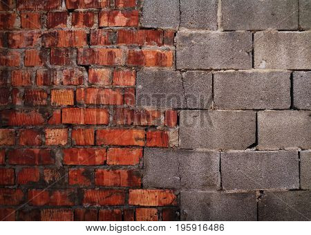 Wall. Brick. Brick wall. Brick background. Brick texture. Brickwork. Combined brickwork. Combined brick.