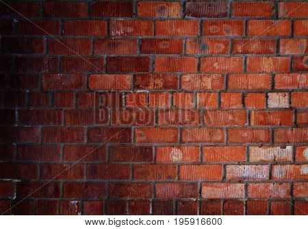 Brick, brick background, texture brick. Brick wall. Brickwork. Red brick. Red wall. Grunge. Grunge background.