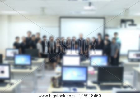 Blurred focus of photo shoot to success