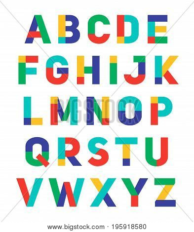 Alphabet A-Z font vector design template collection