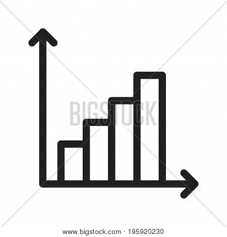 Analysis, financial, business icon vector image. Can also be used for Data Analytics. Suitable for mobile apps, web apps and print media.