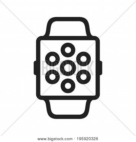 Apps, watch, internet icon vector image. Can also be used for Smart Watch. Suitable for mobile apps, web apps and print media.