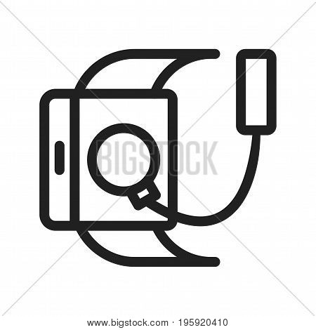Charger, usb, cable icon vector image. Can also be used for Smart Watch. Suitable for mobile apps, web apps and print media.