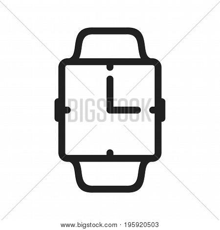 Clock, watch, time icon vector image. Can also be used for Smart Watch. Suitable for web apps, mobile apps and print media.