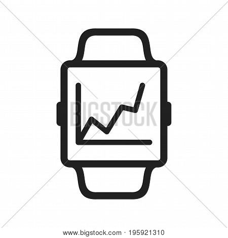 Statistics, graph, growth icon vector image. Can also be used for Smart Watch. Suitable for use on web apps, mobile apps and print media.