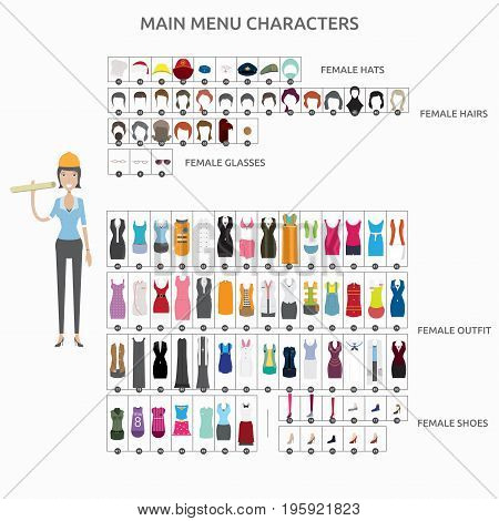 Character Creation Architect   set of vector character illustration use for human, profession, business, marketing and much more.The set can be used for several purposes like: websites, print templates, presentation templates, and promotional materials.