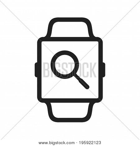 Watch, internet, search icon vector image. Can also be used for Smart Watch. Suitable for mobile apps, web apps and print media.