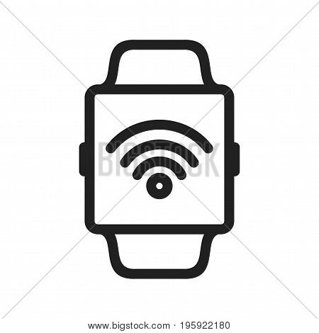 Watch, wifi, connect icon vector image. Can also be used for Smart Watch. Suitable for mobile apps, web apps and print media.