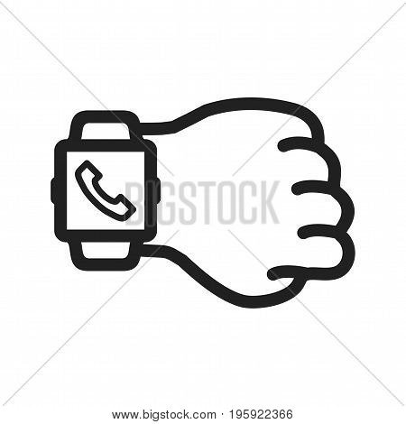 Watch, call, smart icon vector image. Can also be used for Smart Watch. Suitable for use on web apps, mobile apps and print media