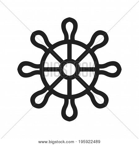 Helm, hand, wheel icon vector image. Can also be used for Pirate. Suitable for use on web apps, mobile apps and print media
