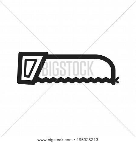 Hacksaw, industry, tool icon vector image. Can also be used for Hand Tools. Suitable for use on web apps, mobile apps and print media