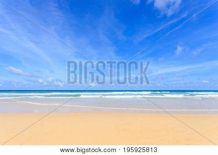 Good weather day at tropical beach Kata Noi in phuket island Andaman sea Thailand