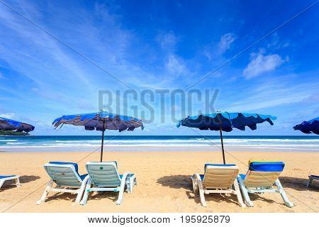 Tropical Beach, Kata Noi In Phuket Island, Andaman Sea, Thailand