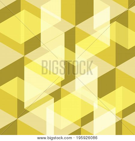 Abstract yellow geometric template background, stock vector