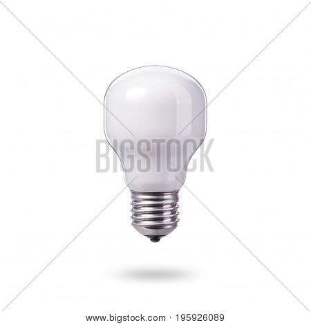 White New Home Light Bulbs. Studio Shot Isolated On White
